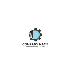 Logo design book maintenance settings vector