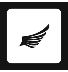Long wing birds icon simple style vector