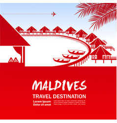 Maldives travel destination vector
