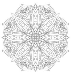 Mandala hand drawn oriental decorative element vector