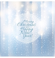 Merry Christmas and Happy New Year card Lights vector image