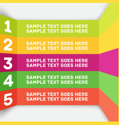 modern colorful flat designed option template vector image