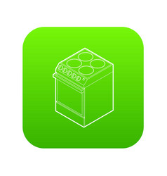 modern electric cooker icon green vector image