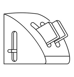 modern toaster icon outline style vector image