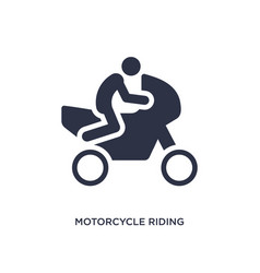 Motorcycle riding icon on white background simple vector