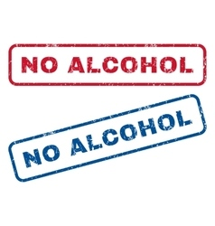 No Alcohol Rubber Stamps vector