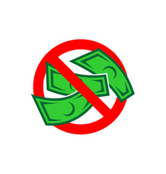 No money color icon free charge sign cash vector
