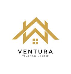 real estate logo design inspiration vector image