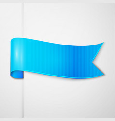 Realistic shiny blue ribbon isolated vector