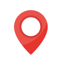 red map pointer icon simple location mark gps vector image