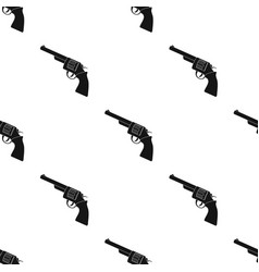 Revolver icon in black style isolated on white vector