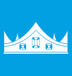royal crown icon white vector image