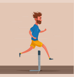running sporty character vector image
