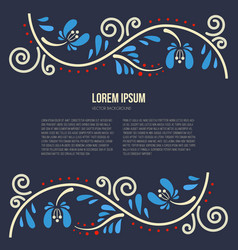 Russian tracery card vector