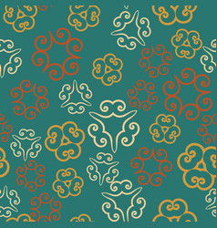 Seamless pattern tile with tri-corner mandalas vector