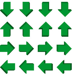Set of 3d arrows in different positions vector