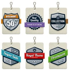 set retro labels vector image