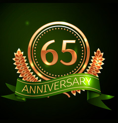 sixty five years anniversary celebration design vector image