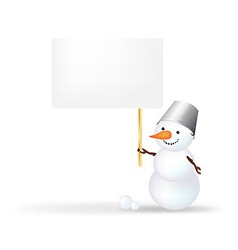 Snowman With Announcement vector image