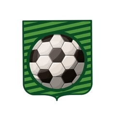 soccer tournament emblem with ball vector image