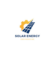 solar panel energy service logo icon vector image