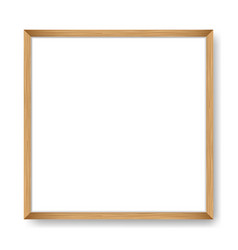 Square blank picture frame template vector