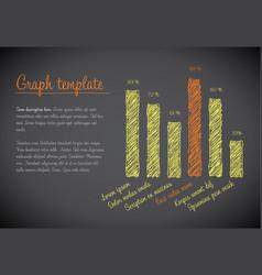 statistics handdrawn column vertical graph vector image