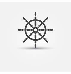 Steering wheel - symbol or icon vector