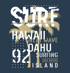surfing print 027 vector image