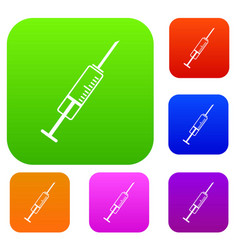 Syringe set collection vector