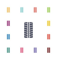 tire flat icons set vector image