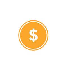 usd currency icon design template isolated vector image