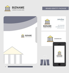 villa business logo file cover visiting card and vector image
