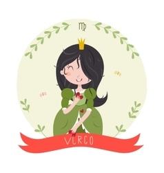 Virgo cute horoscope vector