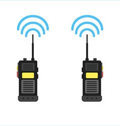 Walkie talkie icon police radio online vector