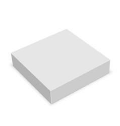 White blank box vector