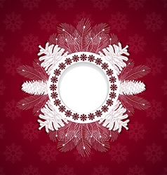 White christmas frame vector image