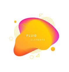 yellow dynamic light on fluid blotch vector image