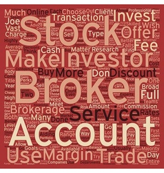Stock Brokers text background wordcloud concept vector image vector image