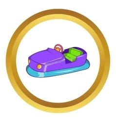 Bumper car in amusement park icon vector image vector image