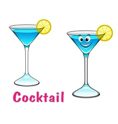 Cartoon cocktail character vector image vector image