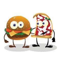 Happy Food Friends vector image vector image