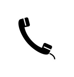 phone receiver icon black vector image