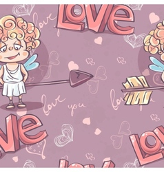 Seamless texture for Valentines Day vector image vector image