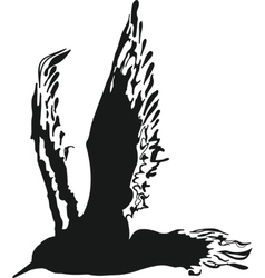 Silhouette Bird vector image vector image