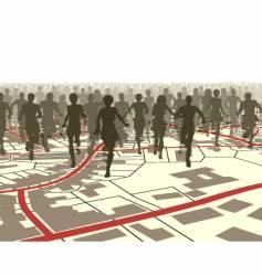 town run vector image vector image