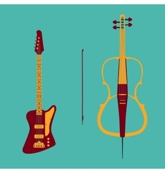 Bass and cello vector image vector image
