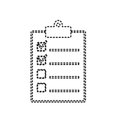 checklist sign black dashed vector image