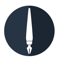 Fountain pen write ink style work shadow vector
