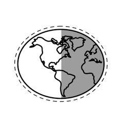 globe world earth connection technology line vector image vector image